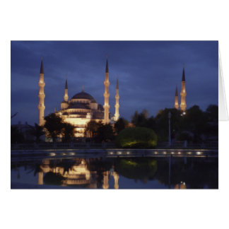 Greeting card : the Blue Mosque at night