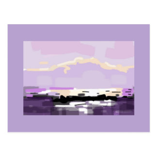 Greeting card Violet Mournes seascape mountains