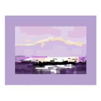 Greeting card Violet Mournes seascape mountains Postcard