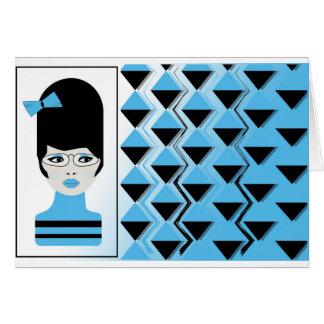Greeting Card w/envelope BIG HAIR MODERN GIRL