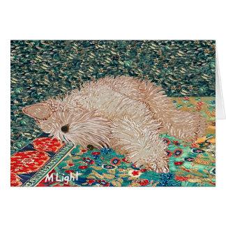Greeting Card: Wheaten Terrier Bedtime Card