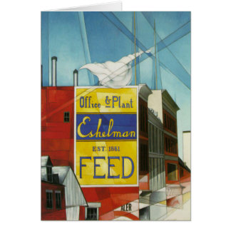 Greeting Card With Charles Demuth Painting