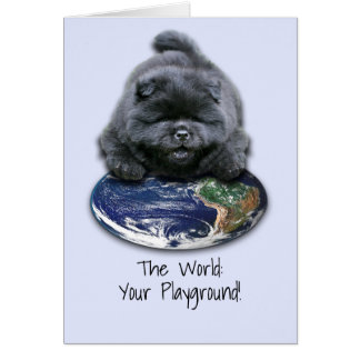 Greeting Card with Chow Puppy