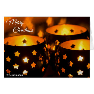 Greeting Card with Christmas Candlelight