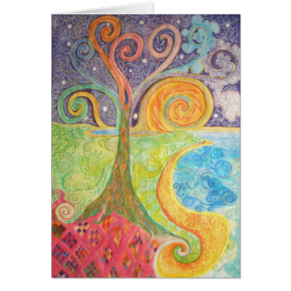 Greeting Card with Colourful Fantasy Design