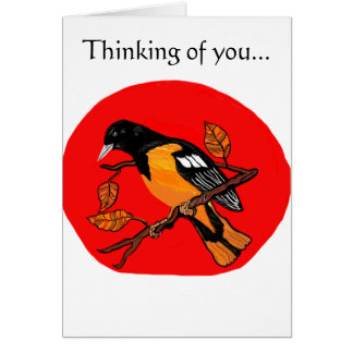 greeting card with gorgeous bird