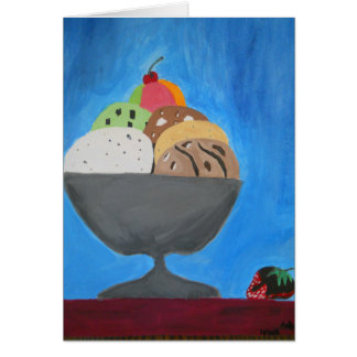 "Greeting Card with ""Ice Cream"" by Amber Larsen"