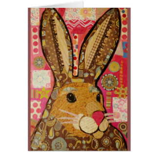 Greeting Card with Jelly Bean Rabbit