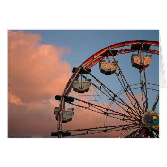 Greeting card with photo of ferris wheel