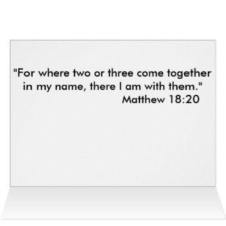 Greeting card with prayer.