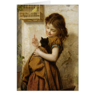 Greeting Card With Sophie G. Anderson Painting