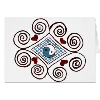 Greeting Cards ying yang swirl design