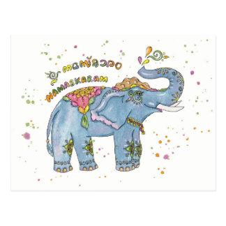 Greeting elephant postcard