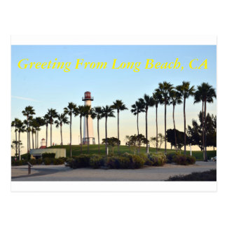 Greeting from Long Beach CA Postcard
