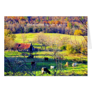 ~Greeting from my farm to yours~ Card