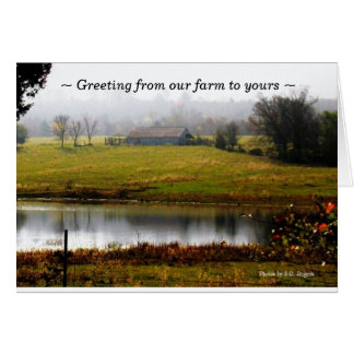 Greeting from our farm to yours