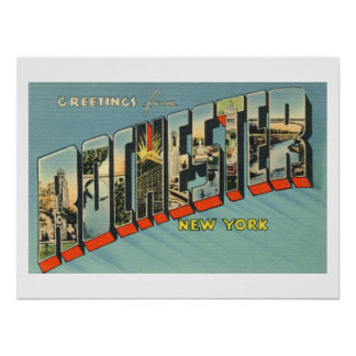 Greeting from ROCHESTER, New York Poster