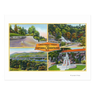 Greeting From with Scenic Views Postcard