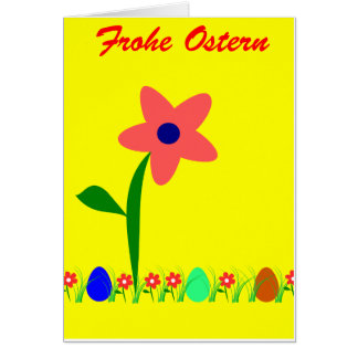 Greeting map at Easter - text: Glad Easter Card