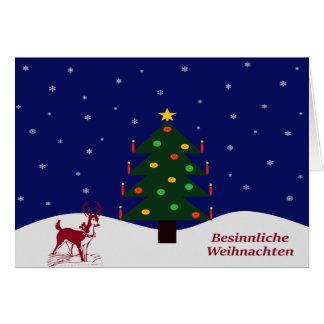 Greeting map Besinnliche Christmas Card