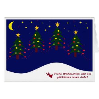 Greeting map glad Christmas Card
