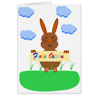 Greeting map - glad Easter Card