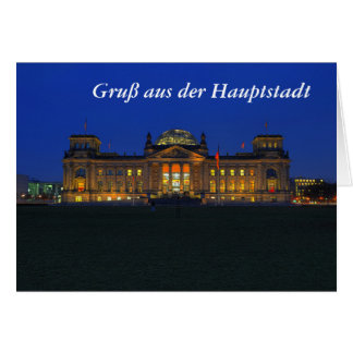 Greeting map greeting from the capital Reichstag Card