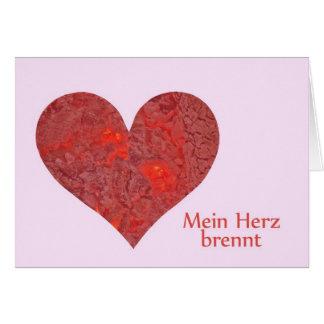 Greeting map heart greeting card