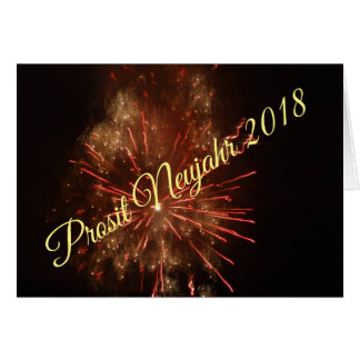 """Greeting map """"Prosit New Year 2018"""" by forest elf Card"""