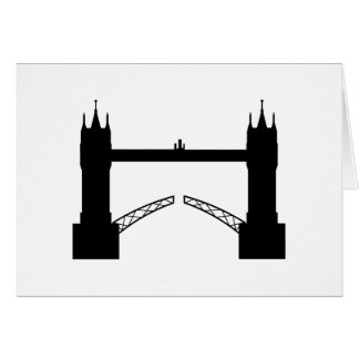 Greeting map Tower Brigde London Card