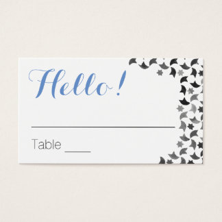 Greeting Table Cards | Name Cards & Tips on Back