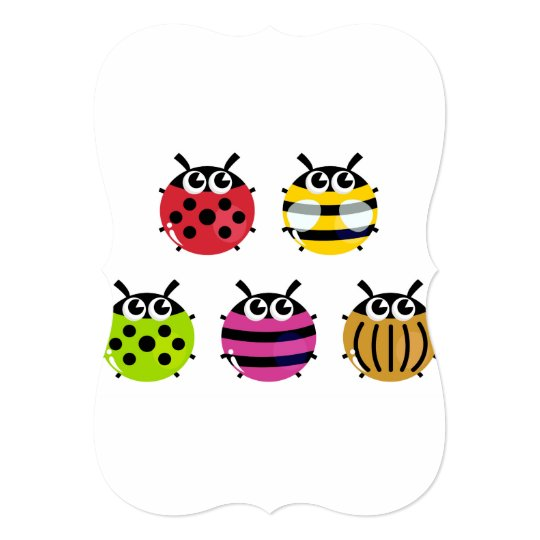 Greeting with lady bugs card