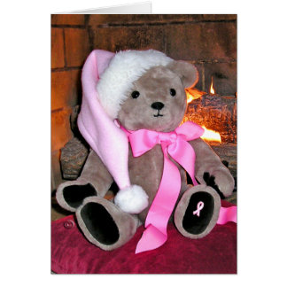 GreetingCard-Breast Cancer Teddy  Bear Card