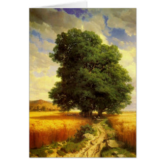 Greetingcard With Alexandre Calame Painting Card