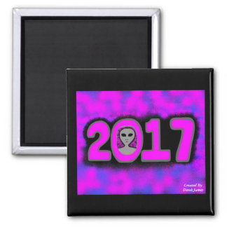 Greetings 2017 2 Inch Square Magnet