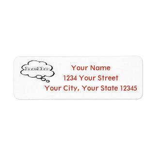 Greetings Address Label