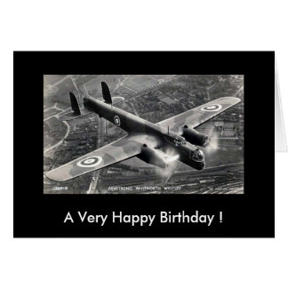 Greetings Card - Armstrong Whitworth Whitley