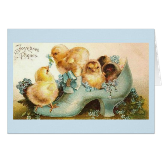 Greetings Card - Chicks in the Blue Shoe