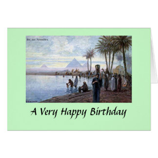 Greetings Card - Egypt, Pyramids