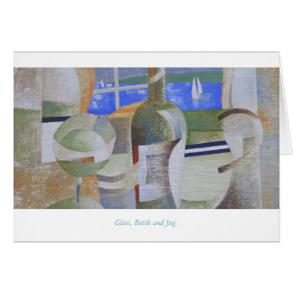 Greetings Card: Glass, Bottle and Jug. Card