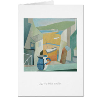 Greetings Card:  Jug, St Ives Window. Card