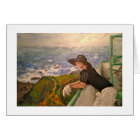 "Greetings Card - ""On A Balcony"" - Burgh Island"