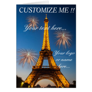 Greetings card Paris - Eiffel Tower #1