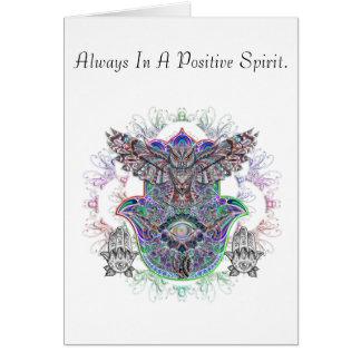 Greetings Card Spirit Owl Design