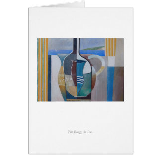 Greetings Card: Vin Rouge, St Ives. Card