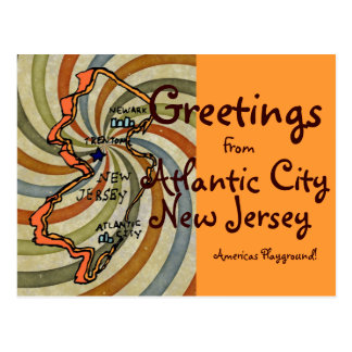 Greetings From AC New Jersey Postcard