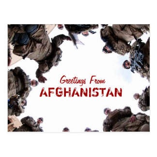 Greetings From Afghanistan postcard