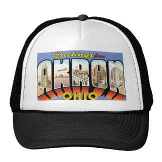 Greetings from Akron, Ohio! Trucker Hat