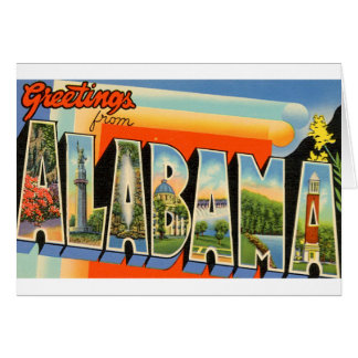 Greetings From Alabama Card