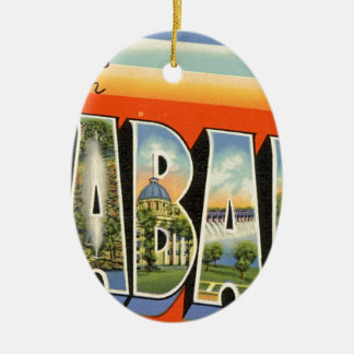 Greetings From Alabama Ceramic Ornament